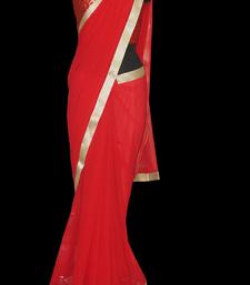 Buy Bold Red georgette-saree online
