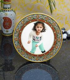 Buy eCraftIndia Decorative Round Marble Photo Frame with Flowers other-home-accessory online
