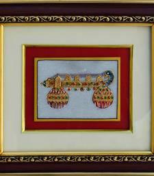 Buy eCraftIndia Marble Painting of Rudra Veena wall-art online