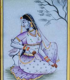 Buy eCraftIndia Gorgeous Ragini Painting with Swan wall-art online