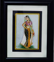 Buy eCraftIndia Beautiful Ragini Marble Painting (Wooden Framed) wall-art online