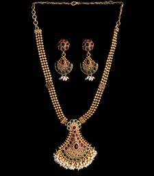 Multicolor studded jewellery necklace sets shop online
