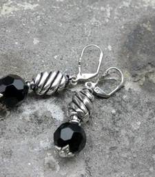 Buy Black Twisties Earrings danglers-drop online