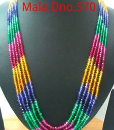Buy stones mala 5rows Necklace online