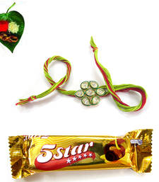 Flaunting AD Kundan Rakhii Small  Chocolate Pack  shop online