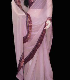 Buy fascinating pink chiffon-saree online