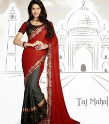 Buy Fashionic Multicolor Color Crep Saree SNLS2427 crepe-saree online