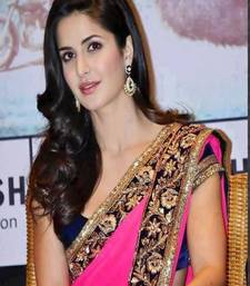Buy Katrina Kaif New Pink Saree katrina-kaif-saree online