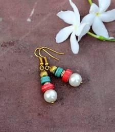 Buy Discs and Pearls Earrings danglers-drop online