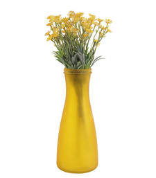 Buy Shinny yellow decorative artificial flower bunch artificial-flower online