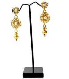 Buy Traditional Stone Necklace & Earring - Pearl necklace-set online