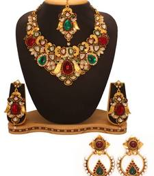 Buy Diwali Discount offers - Vendee Fashion Indian wedding fashion combo jewelry (1331) necklace-set online