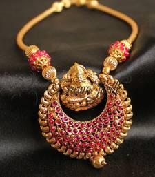 Buy GORGEOUS KEMP ANTIQUE LAKSHMI NECKLACE necklace-set online