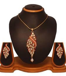Buy Vendee Fashion Addorabe Dangler Pendant Set 8127 necklace-set online