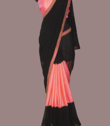 Buy Trendy Black georgette-saree online