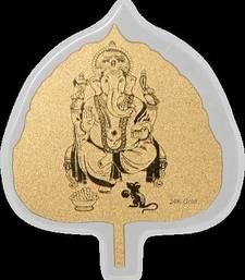 Buy Diwali Gifts Leaf card diwali-silver-gift online