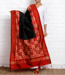 Buy DOUBLE IKAT PATOLA SILK DUPATTA stole-and-dupatta online