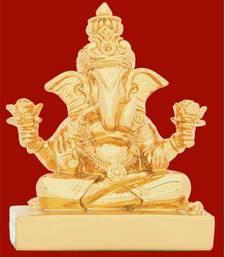 Buy LM5029 Gold Ganesha Idol g12lm5029 ganesh-chaturthi-gift online