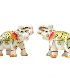 Buy Marble Elephant Pair other-home-accessory online
