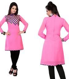 Buy Hypnotex Pink Georgette Kurtis Alesia4E kurtas-and-kurti online