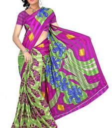 Buy Unique Printed satin patti printed-saree online