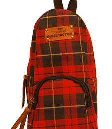 Buy Clean Planet GlobeTrotter Classic Mini Backpack Accessory Red Checks backpack online