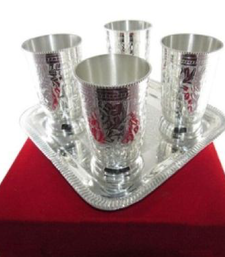 Buy silver plated water glass decorative plates eid-gift online