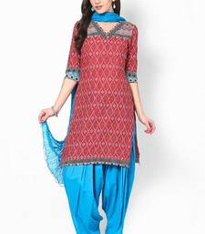 Buy Blue Solid Patiala Salwar With Dupatta - PAT2 punjabi-suit online