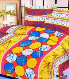 Buy Aria 100% cotton double bed bold printed bedsheet 70491 bed-sheet online