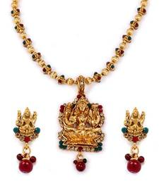 Buy Diva Style Me Goddess Laxmi Temple Jewellery Antique necklace-set online