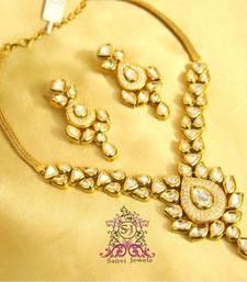 Kundan Paisley Diamond Look Necklace Set shop online