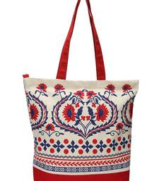 Buy White hand bag with dual prints pp33 A  muhenera bags collection  handbag online