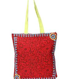 Buy  Stylish Maroon hand bag with dual prints on each side pp34 A  muhenera bags collection  handbag online