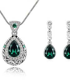 Buy Emerald Green Indian Princess Crystal Necklace Pendant online