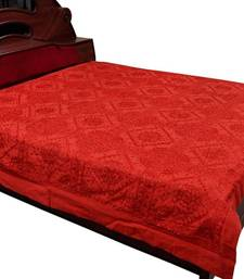 Buy Mirror Work Embroidered Cotton Double Bedcover bed-sheet online