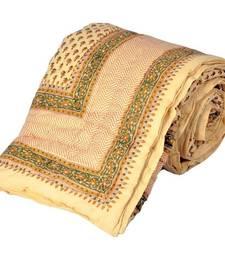 Buy Sanganeri Print Pure Cotton Single Bed Razai bed-sheet online