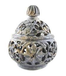 Buy Hand craved handi shaped candle holder(Floral Design) candle online