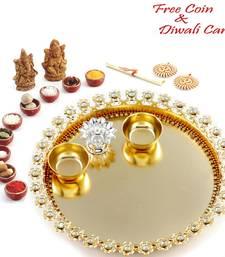Handcrafted Shagun Diwali Puja thali  shop online