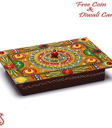 Buy Wood and Clay Handmade Traditional Jewellery cum Utility Box diwali-decoration online