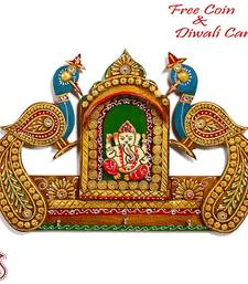 Buy Shree Ganesh and Twin Peacock Wall Art diwali-decoration online