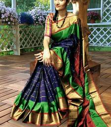 Buy Multicolor printed silk saree with blouse art-silk-saree online