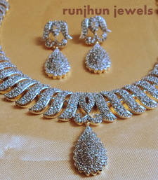 Buy gorgeous cz necklace set Necklace online