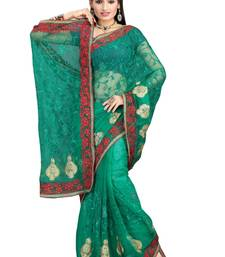 Buy RAMA NETT PARTY WERE SAREE NWITH BLOUSE net-saree online