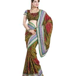 Buy ASPER PITCURE BRASSO PARTY WERE SAREE WITH BLOUSE brasso-saree online