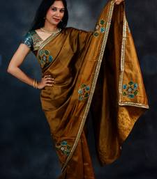 Buy Brown Silk Kalamkari kalamkari-saree online