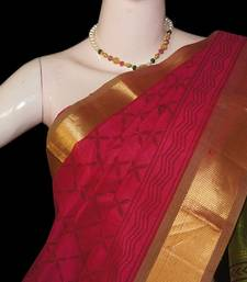 Buy Magenta with Mehandi green SC Saree with blouse traditional-saree online
