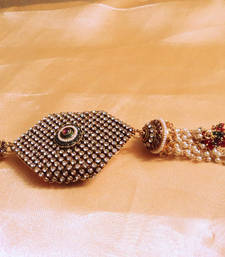 stylish stone and polki keychain shop online