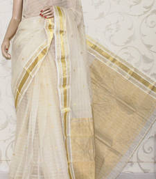 Buy Bengal Handloom Tant Cotton Saree (With Blouse) cotton-saree online