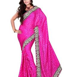 Buy Aesha designe Brasso  Pink saree with Matching blouse brasso-saree online