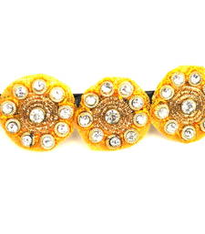 Buy Yellow  buttis ethnic centre clip hair-accessory online